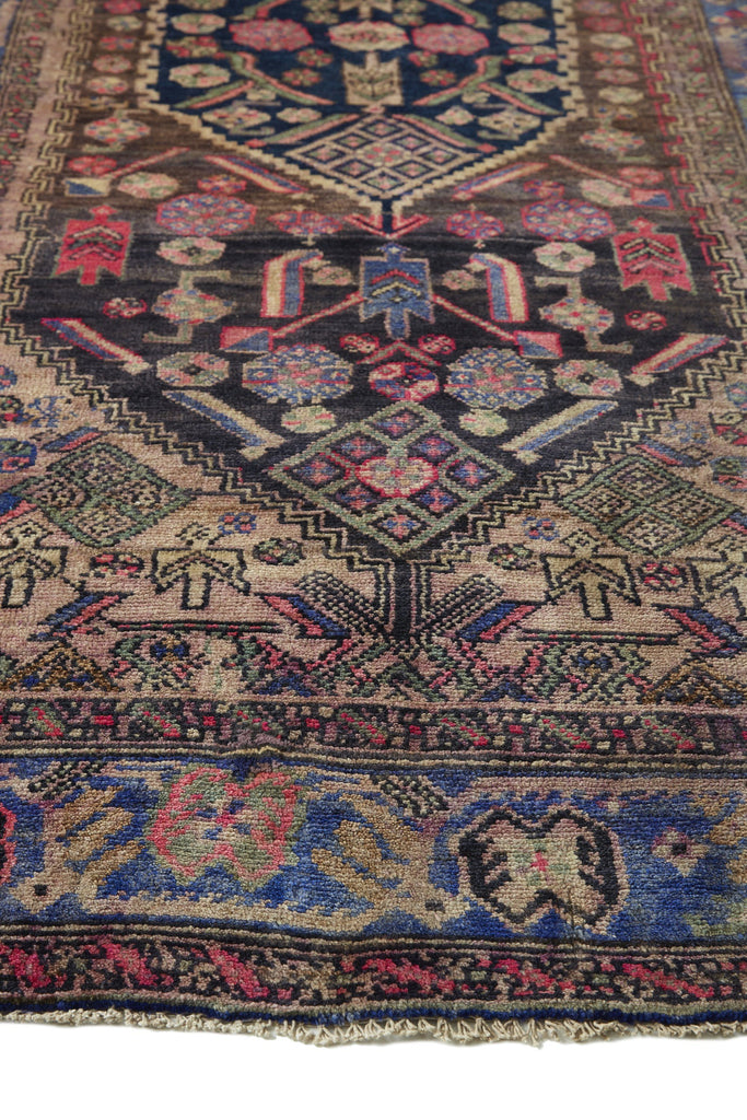"Wildflower Turkish Vintage Area Rug - 4'2.5"" x 8'9"" ( ON HOLD) - Canary Lane - Curated Textiles"