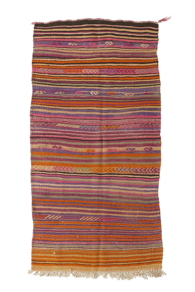 "'Wadi' Turkish Kilim Rug - 2'9"" x 5'2"" - Canary Lane - Curated Textiles"