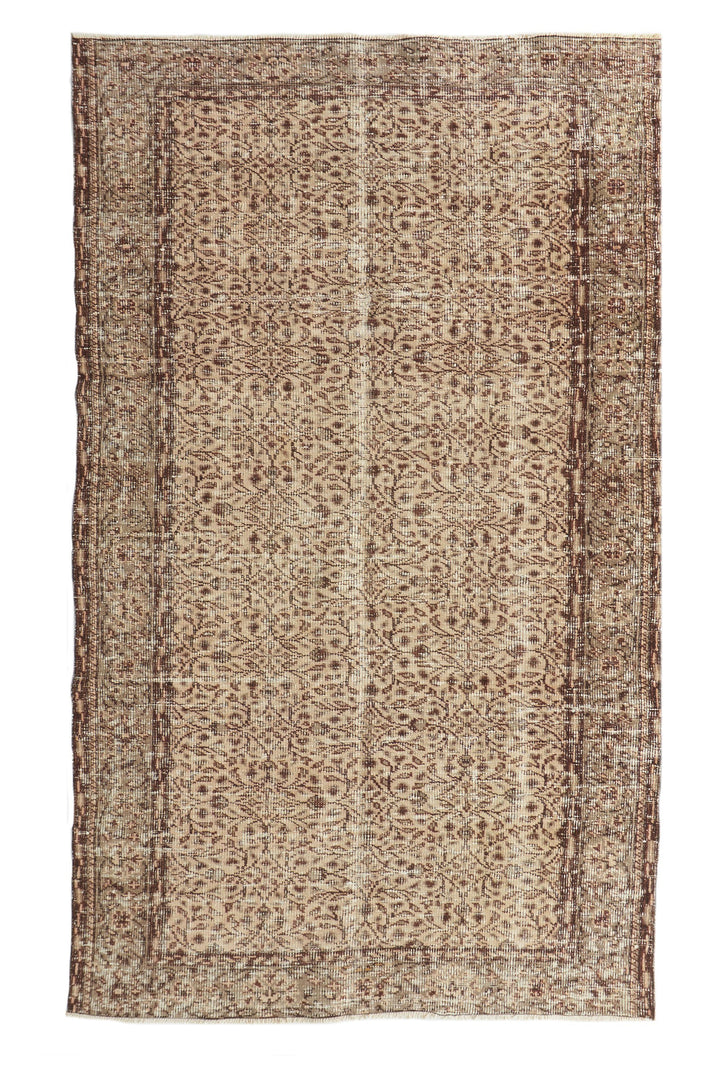 'Acacia' Vintage Turkish Rug- 5'1'' x 8'4'' - Canary Lane - Curated Textiles
