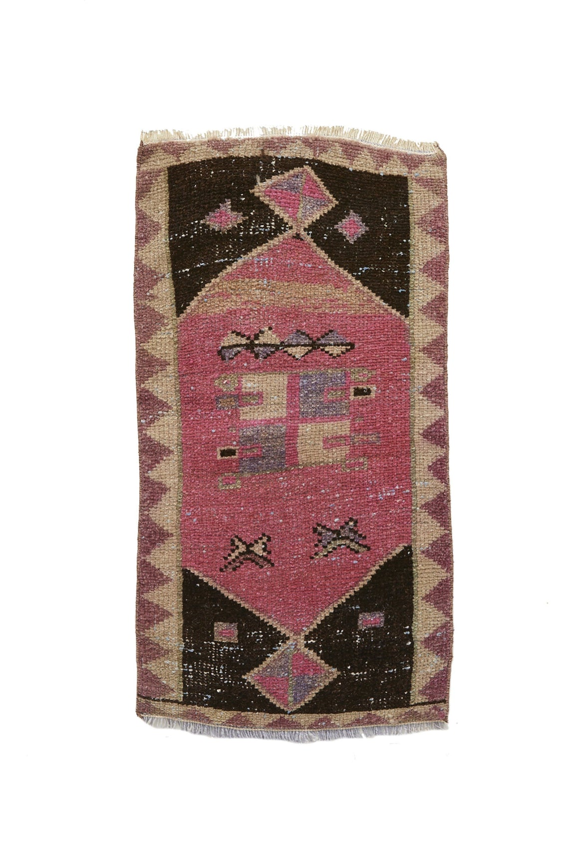 No. 614 Mini Rug - 1'5'' x 2'6'' - Canary Lane - Curated Textiles