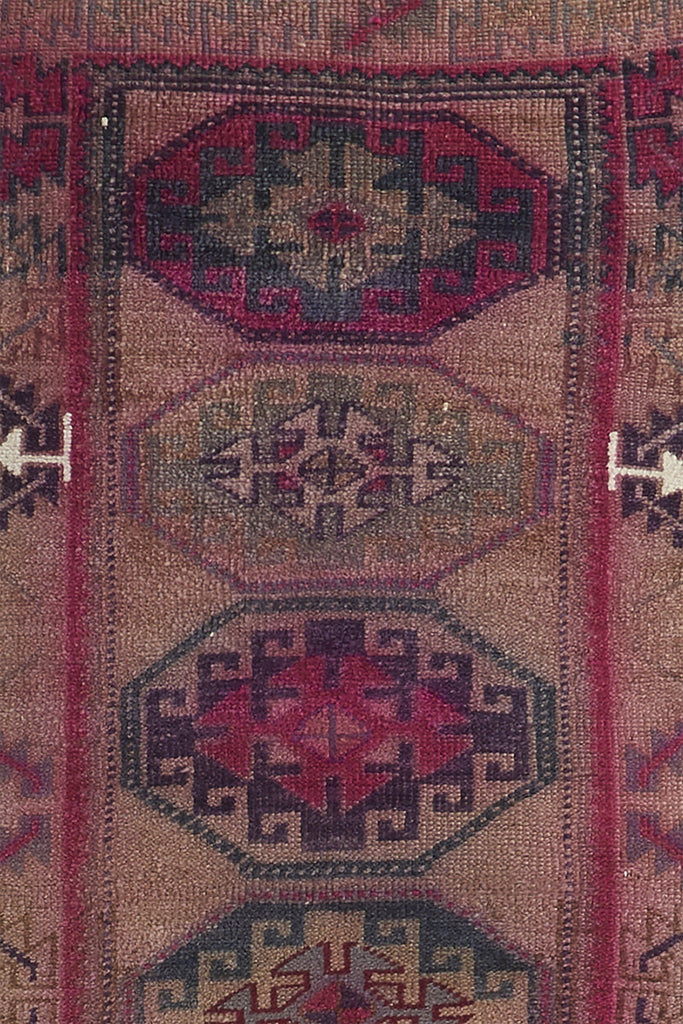 "'Concord' Vintage Turkish Runner Rug - 2'8"" x 8' - Canary Lane - Curated Textiles"