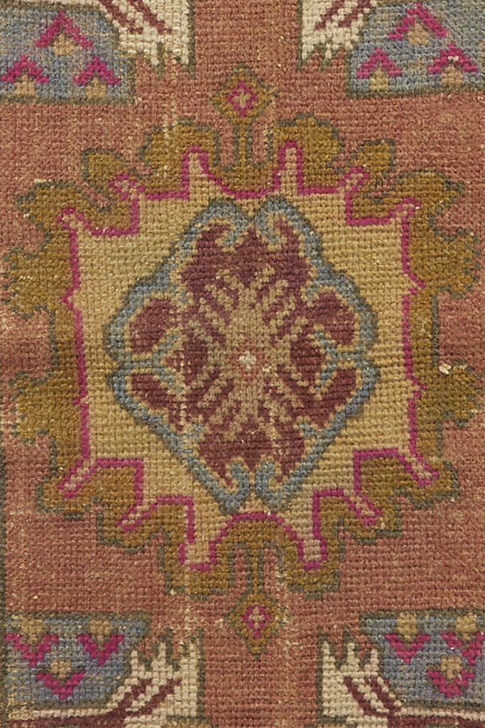 "No. 617 Mini Vintage Rug - 1'4.5"" x 3'1.5"" - Canary Lane - Curated Textiles"