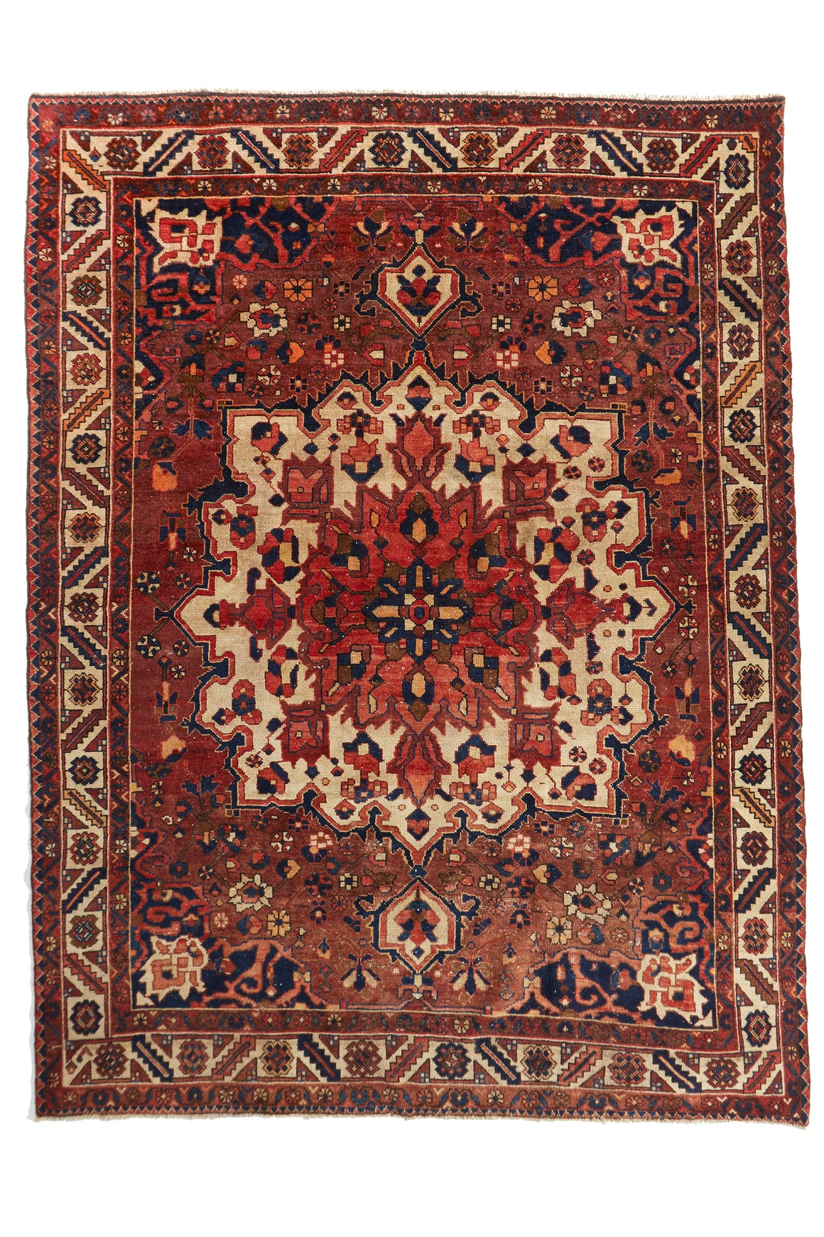 "'Firefly' Vintage Persian Rug - 7'8"" x 10'3'' - Canary Lane - Curated Textiles"