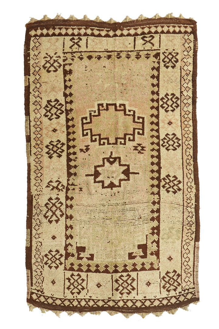 'Dunes' Vintage Turkish Rug - 4' x 7'2'' - Canary Lane - Curated Textiles