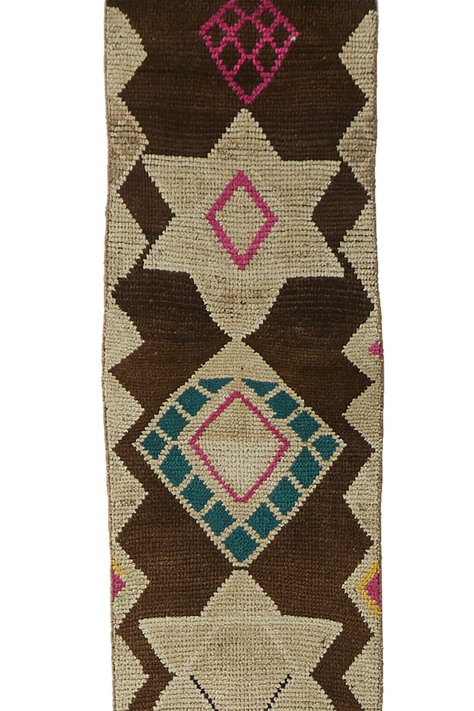 "'Stellar' Vintage Turkish Narrow Runner - 1'8"" x 11'10"" - Canary Lane - Curated Textiles"