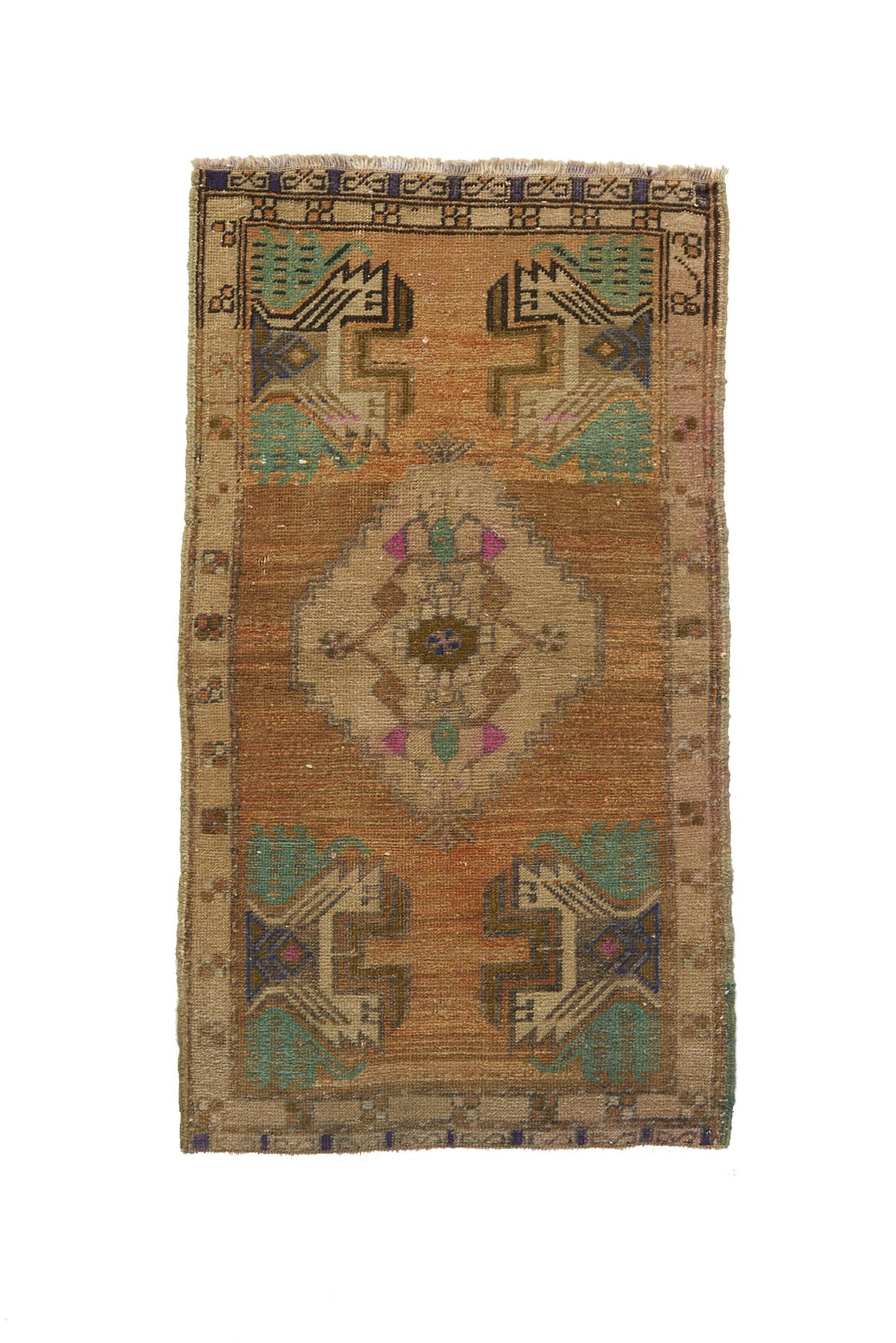 "No. 644 Mini Rug -  1'8"" x 3'2"" - Canary Lane - Curated Textiles"