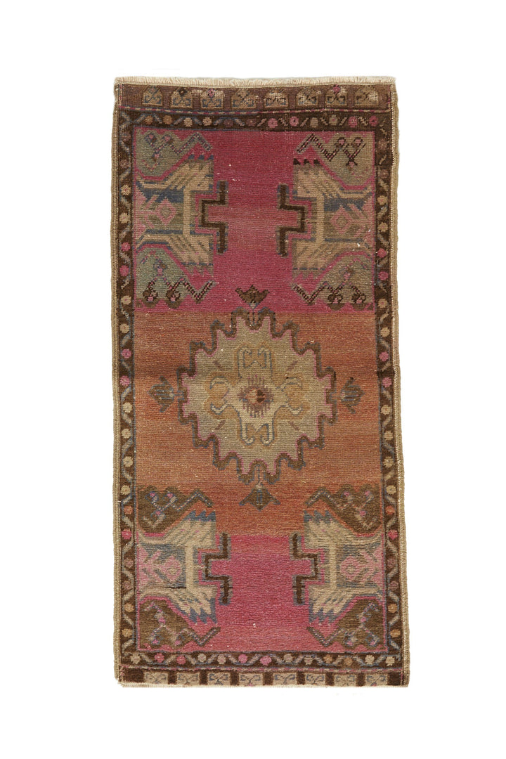 No. 645 Mini Rug - 1'8'' x 3'4'' - Canary Lane - Curated Textiles