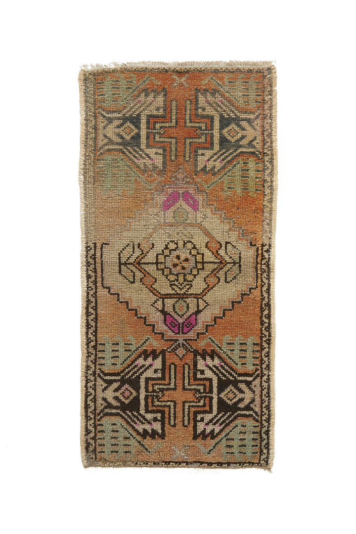 No. 646 Mini Rug- 1'6'' x 3'2'' - Canary Lane - Curated Textiles