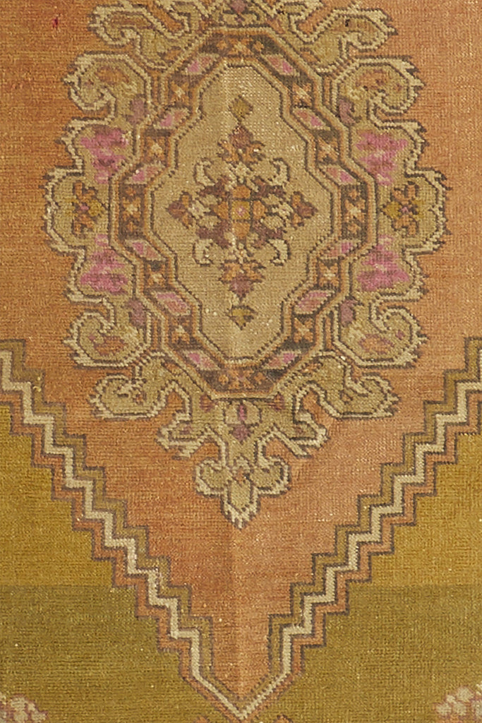 'Sage' Vintage Turkish Accent Rug - 2'10'' x 4'4'' - Canary Lane - Curated Textiles