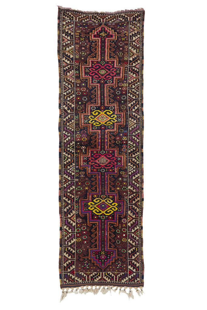 "'Superbloom' Turkish Runner Rug - 3'4"" x 10'5"" - Canary Lane - Curated Textiles"