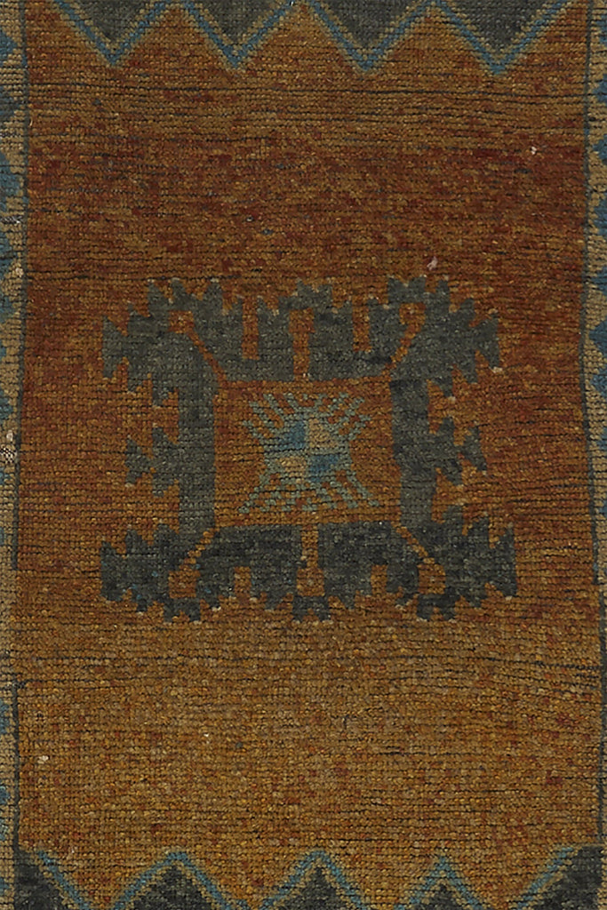 "No. 725 Mini Rug - 1'6"" x 3'7"" - Canary Lane - Curated Textiles"