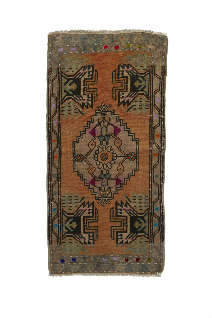 "No. 726 Mini Rug - 1'9"" x 3'6"" - Canary Lane - Curated Textiles"