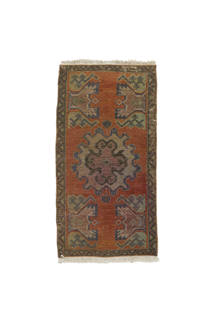 "No. 728 Mini Rug - 1'6"" x 2'11"" - Canary Lane - Curated Textiles"