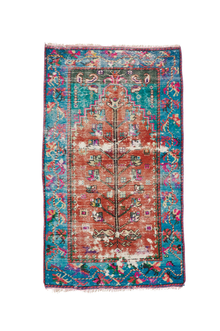 "'Poppy' Vintage Turkish Rug - 2'9"" x 4'9"""