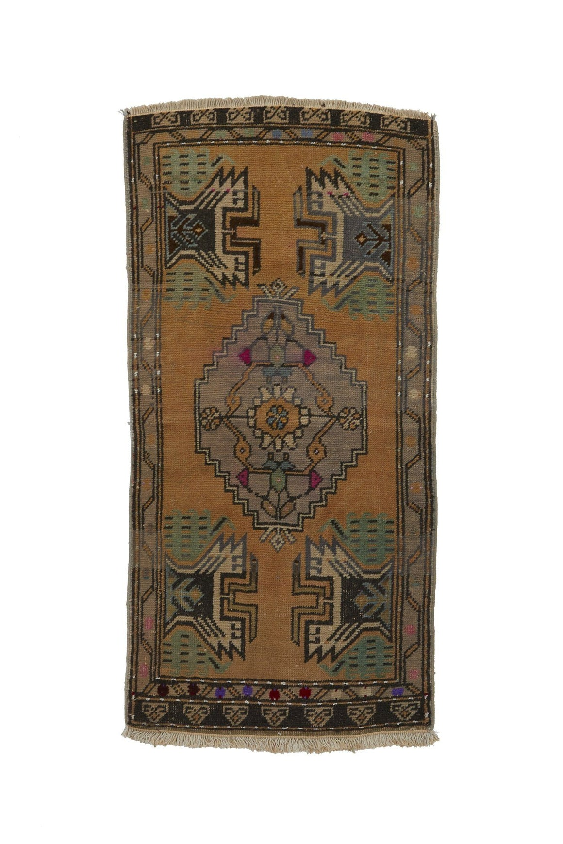 "No. 752 Mini Rug - 1'9"" x 3'7"" - Canary Lane - Curated Textiles"