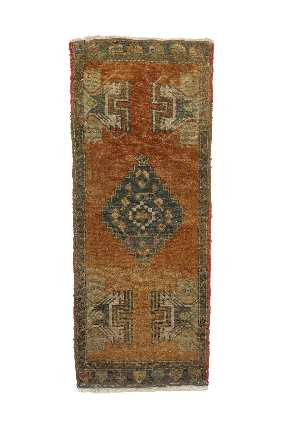 "No. 753 Mini Rug - 1'6"" x 3'11"" - Canary Lane - Curated Textiles"