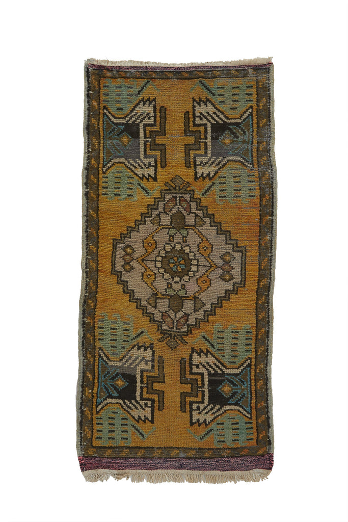 "No. 770 Mini Rug - 1'7"" x 3'7"" - Canary Lane - Curated Textiles"