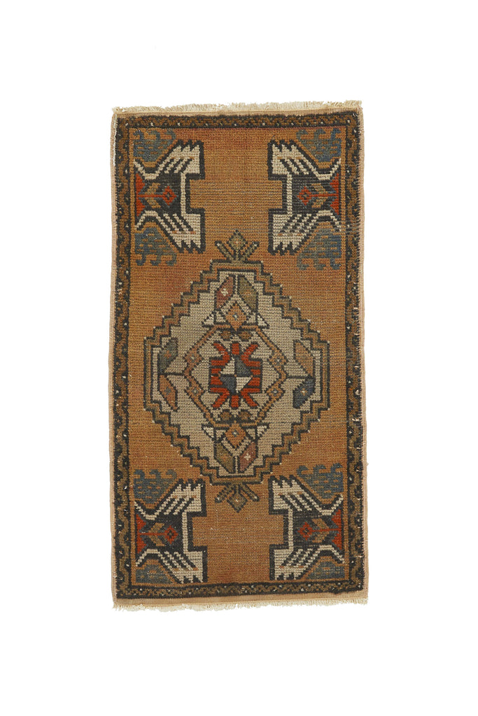 "No. 784 Mini Rug - 1'8"" x 3'4"" - Canary Lane - Curated Textiles"