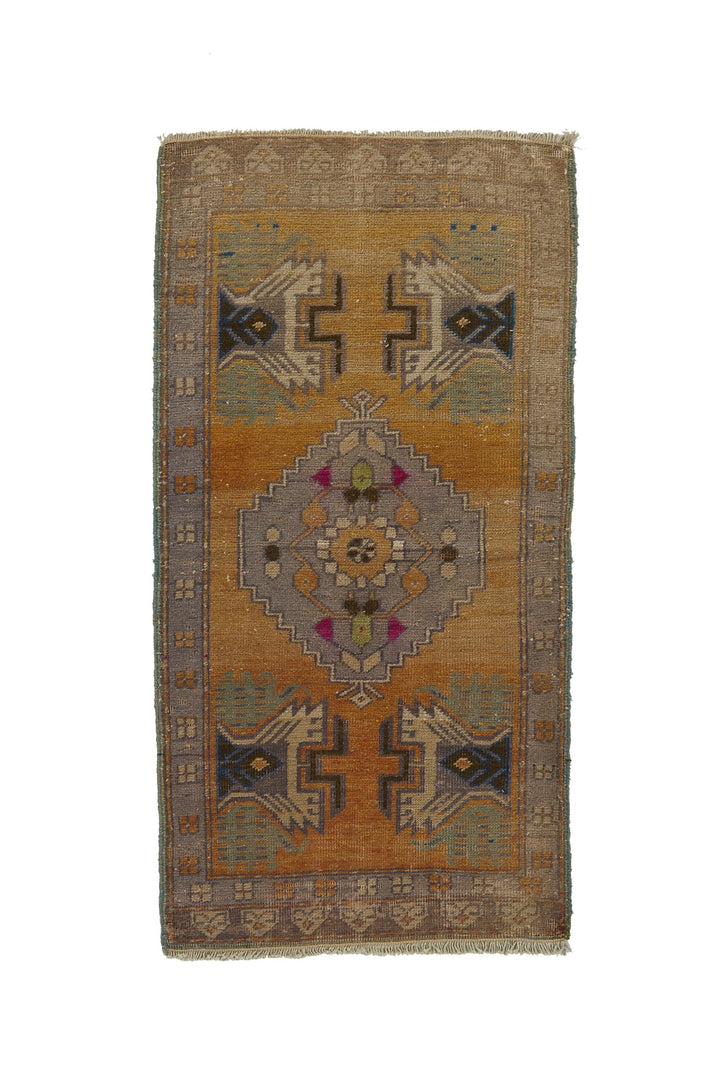 "No. 785 Mini Rug - 1'10"" x 3'7"" - Canary Lane - Curated Textiles"