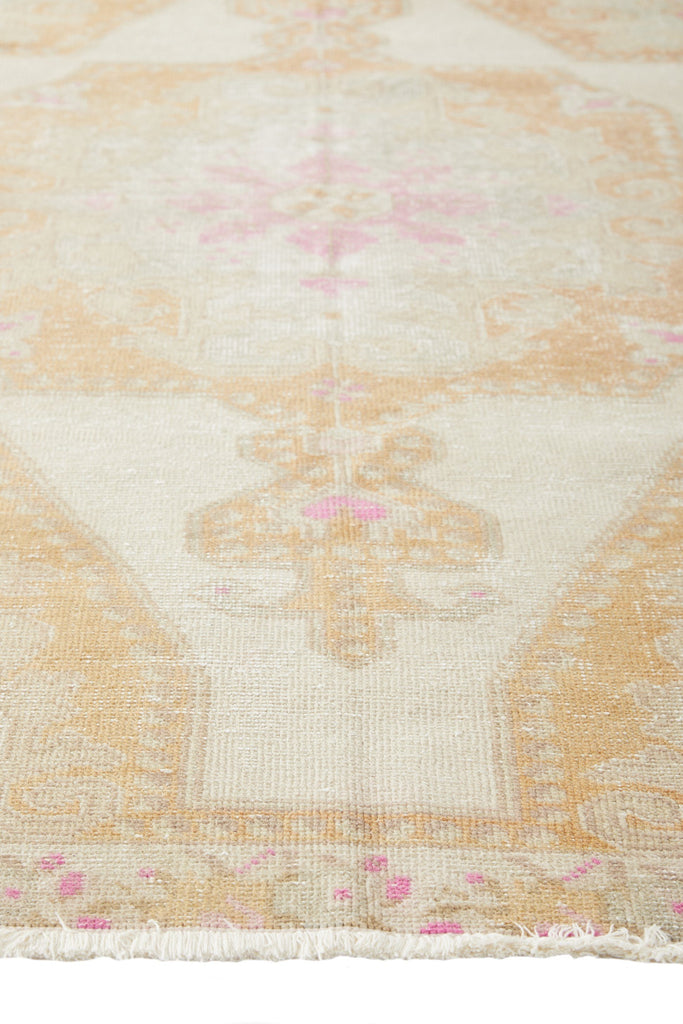 "'Moonlight' Vintage Turkish Oushak Rug - 4'3"" x 7'2"" - Canary Lane - Curated Textiles"