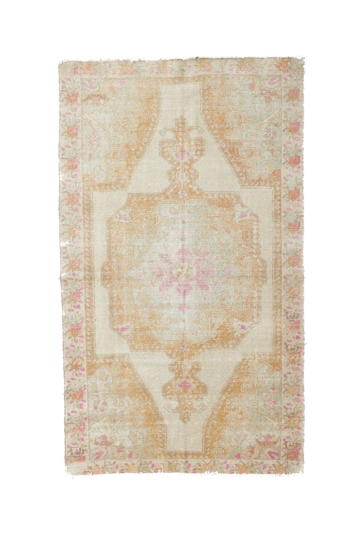 "'Moonlight' Vintage Turkish Oushak Rug - 4'3"" x 7'2"""