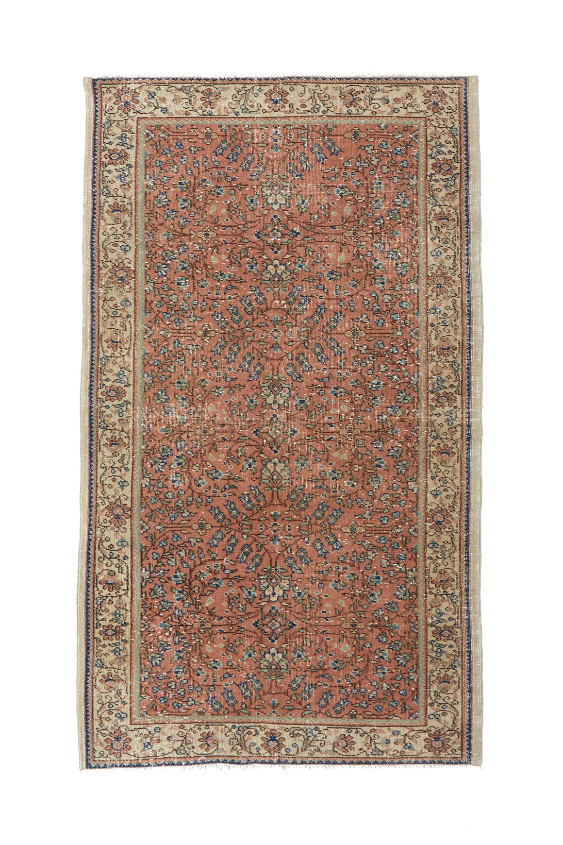 "'Sedona' Vintage Persian Rug - 3'10"" x 6'6"" - Canary Lane - Curated Textiles"