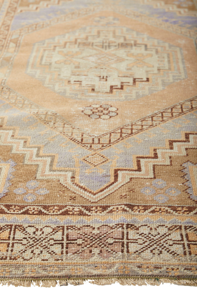 "'Virgo' Turkish Vintage Area Rug - 3'10"" x 6'3"" - Canary Lane - Curated Textiles"