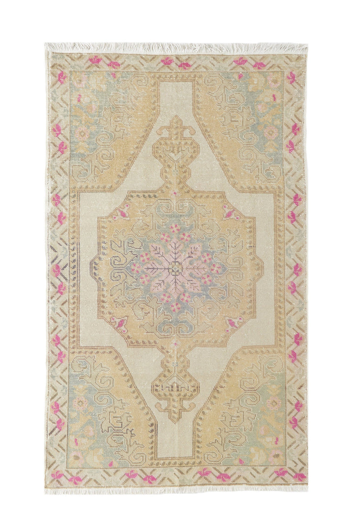"'Enchanted' Vintage Turkish Oushak Rug - 4'6"" x 7'9"""