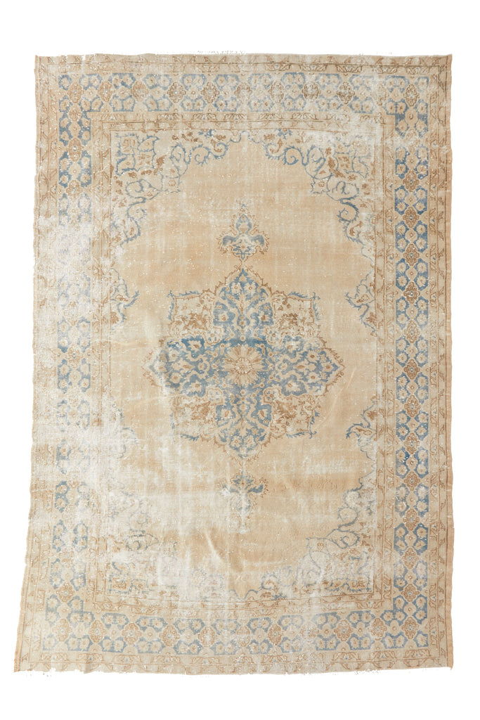 "'Caraway' Vintage Persian Rug - 7'6"" x 11'6''  ( On HOLD) - Canary Lane - Curated Textiles"