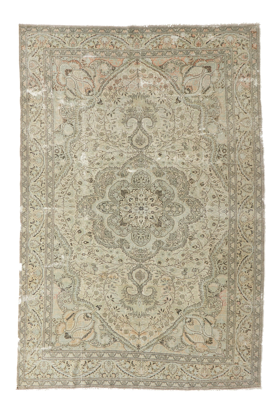"'Artemisia' Vintage Persian Rug - 6'6"" x 9'8"" - Canary Lane - Curated Textiles"