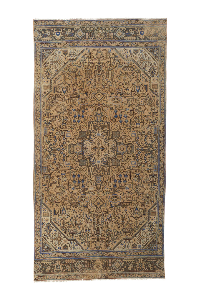 "'Nova' Vintage Persian Rug - 4'10"" x 9'8"" - Canary Lane - Curated Textiles"