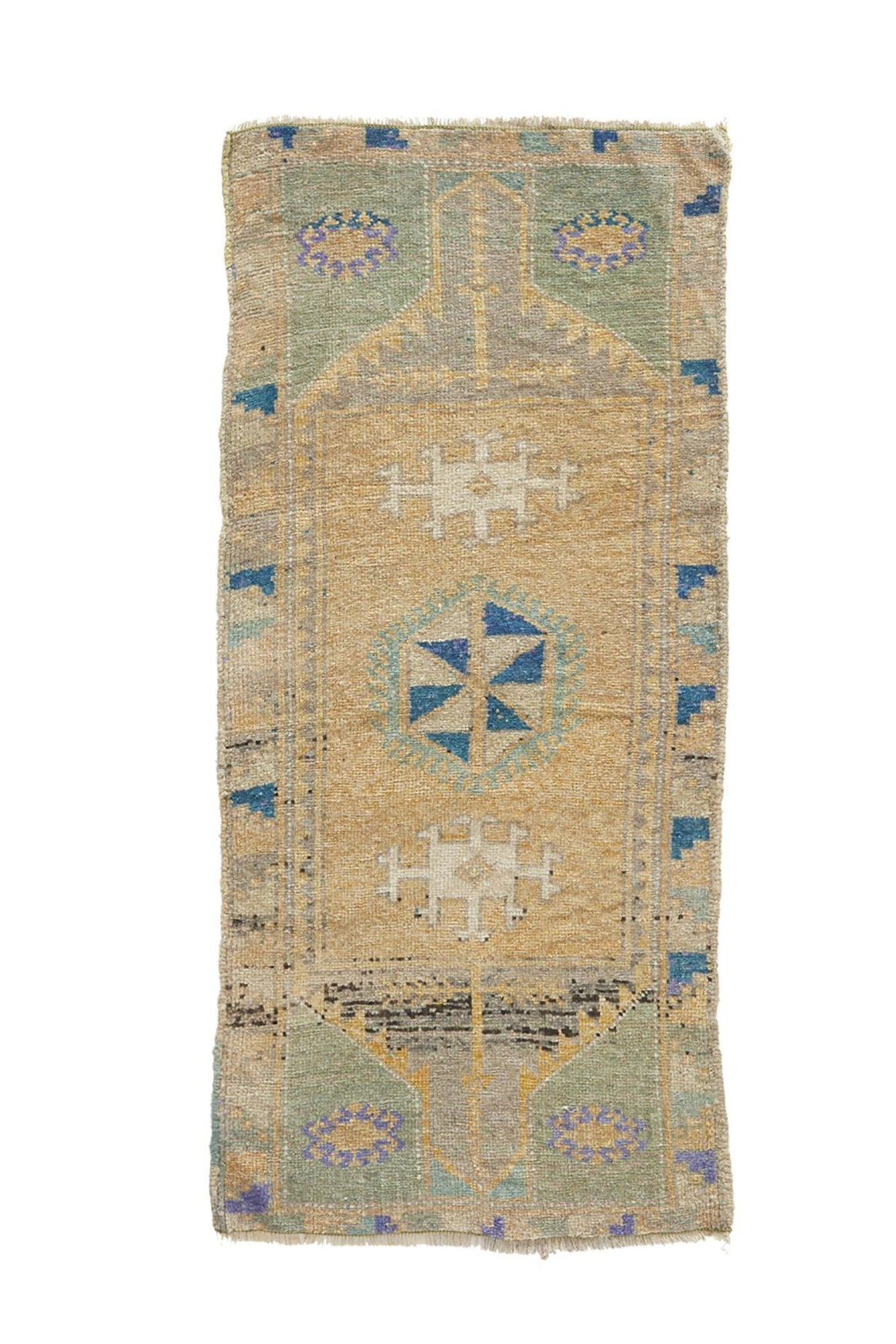 "No. 938 Mini Rug - 1'8"" x 3'8"" - Canary Lane - Curated Textiles"