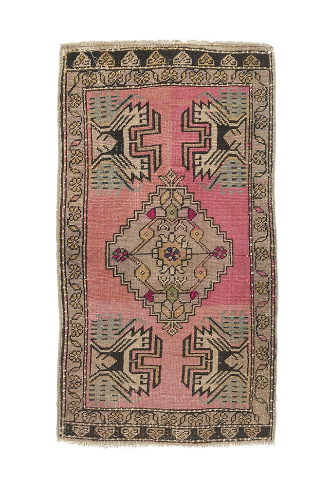 "No. 945 Mini Rug - 1'10"" x 3'4"" - Canary Lane - Curated Textiles"