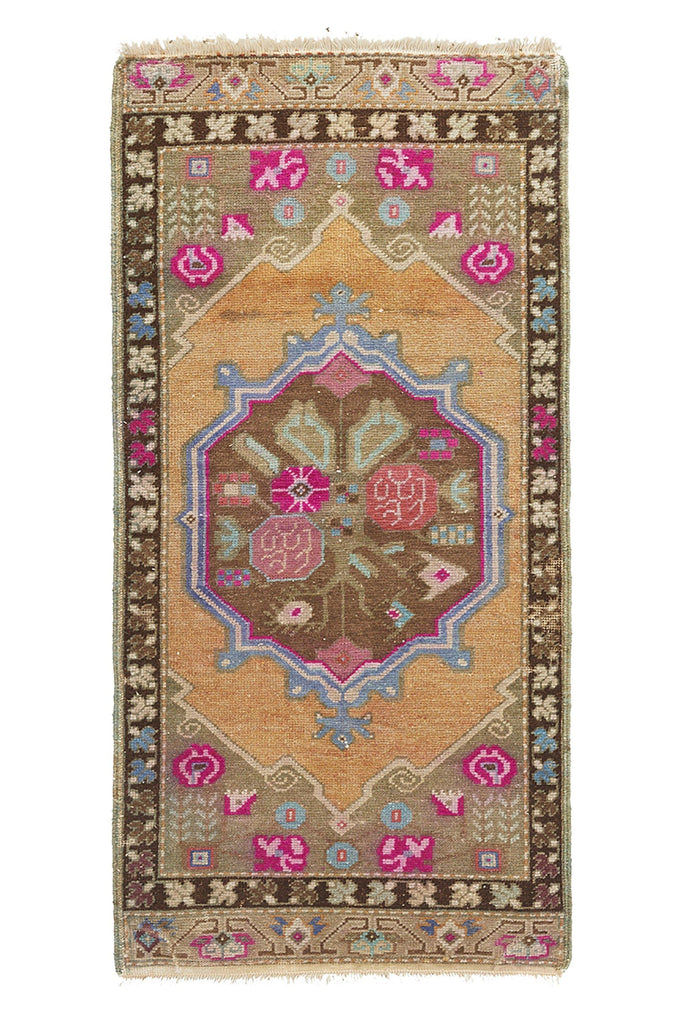 "No. 954 Mini Rug - 1'11"" x 3'11"" - Canary Lane - Curated Textiles"