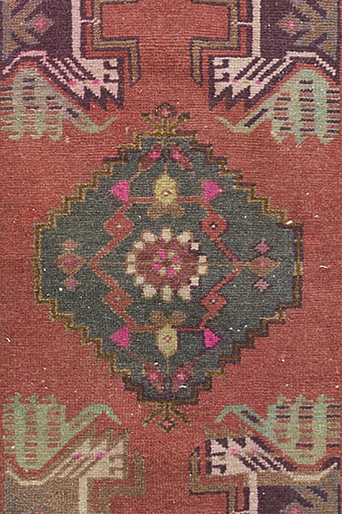 "No. 955 Petite Rug - 1'9"" x 3'7"" - Canary Lane - Curated Textiles"