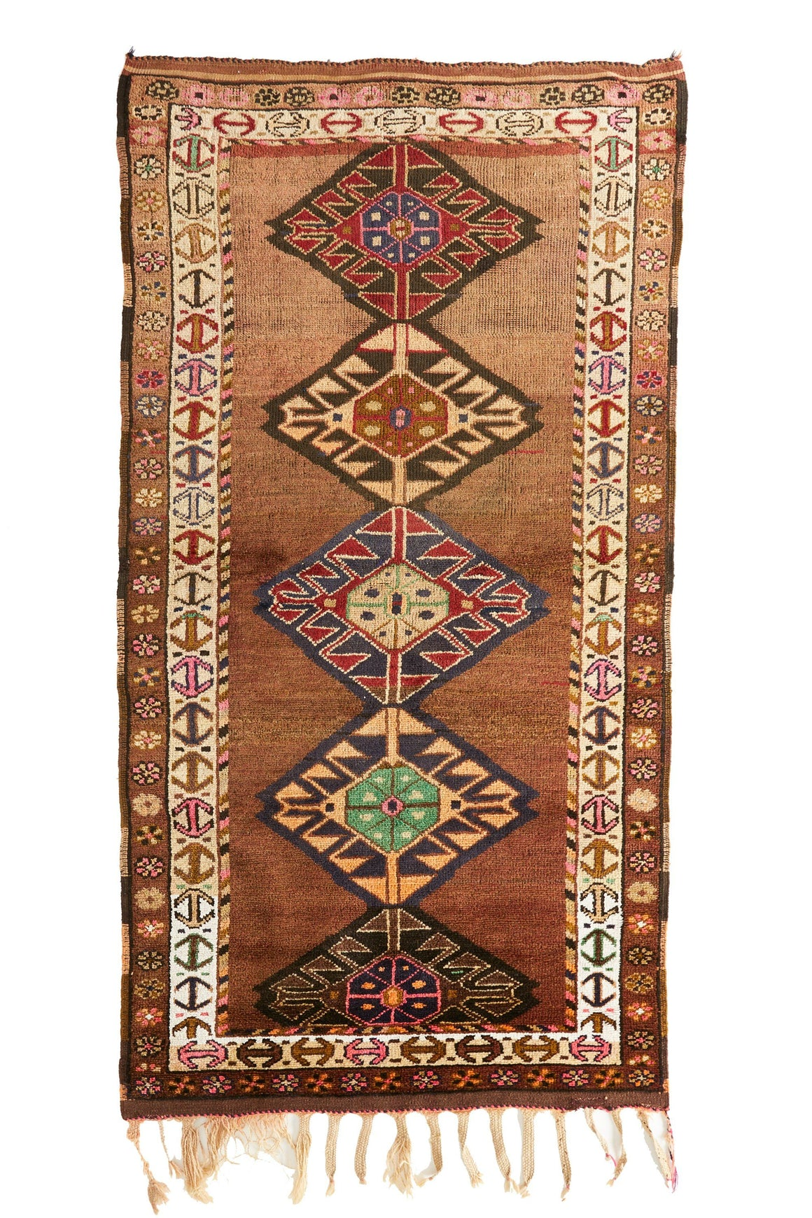 'Aria' Tribal Vintage Area Rug - 4'6'' x 9'3'' - Canary Lane - Curated Textiles