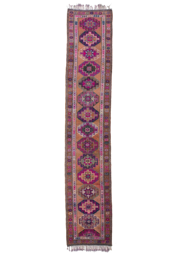 'Celestial' Extra Long Tribal Runner - Canary Lane - Curated Textiles