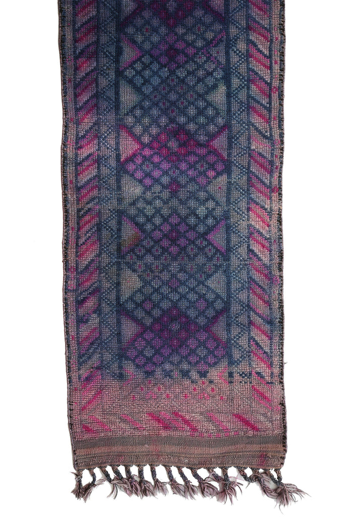 'Bluebell' Tribal Distressed Rug - Canary Lane - Curated Textiles