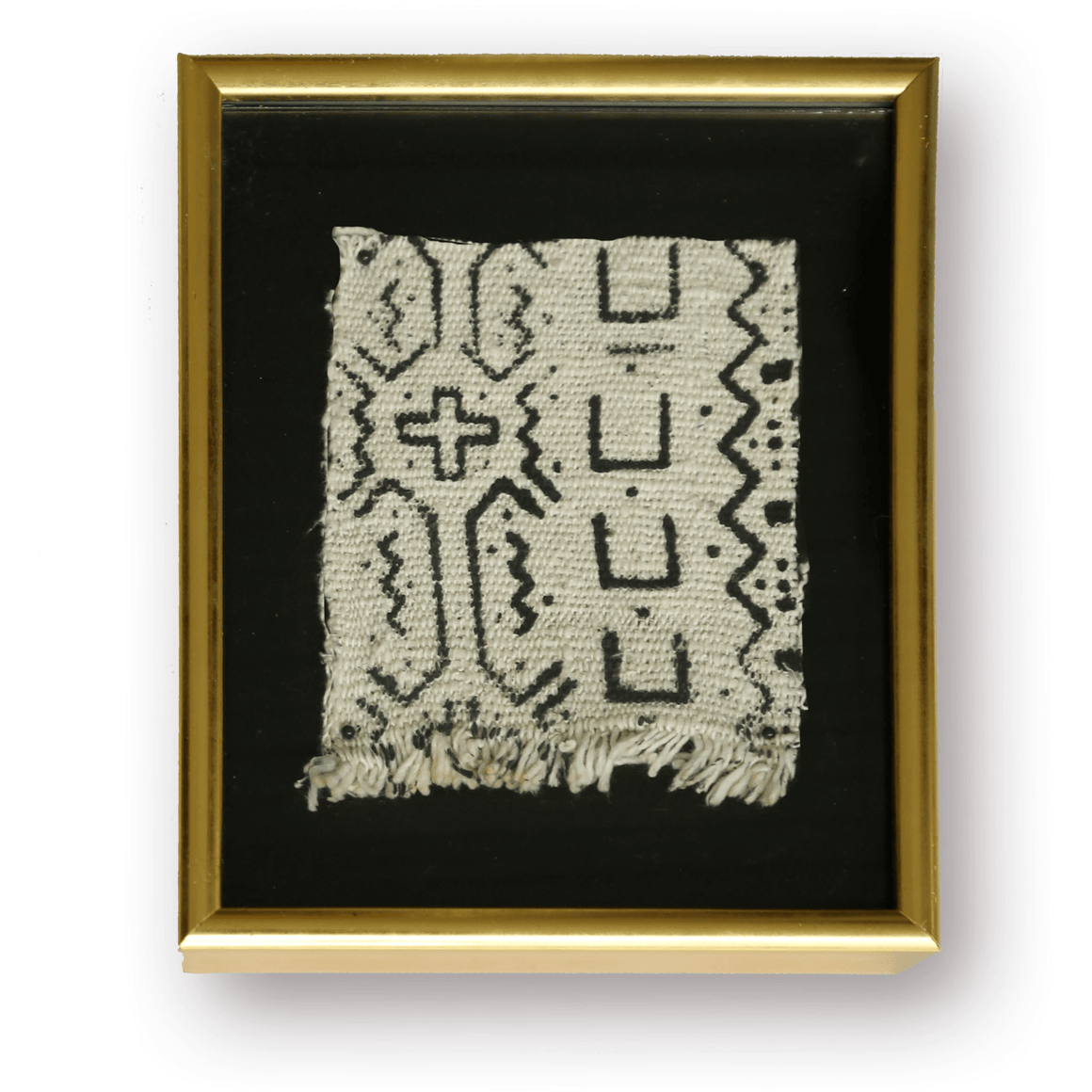 Gold Framed Mud Cloth