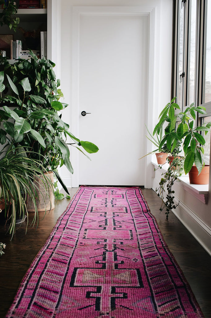 "'Myrtle' Vintage Turkish Long Runner - 2'5"" x 13'9"" - Canary Lane - Curated Textiles"