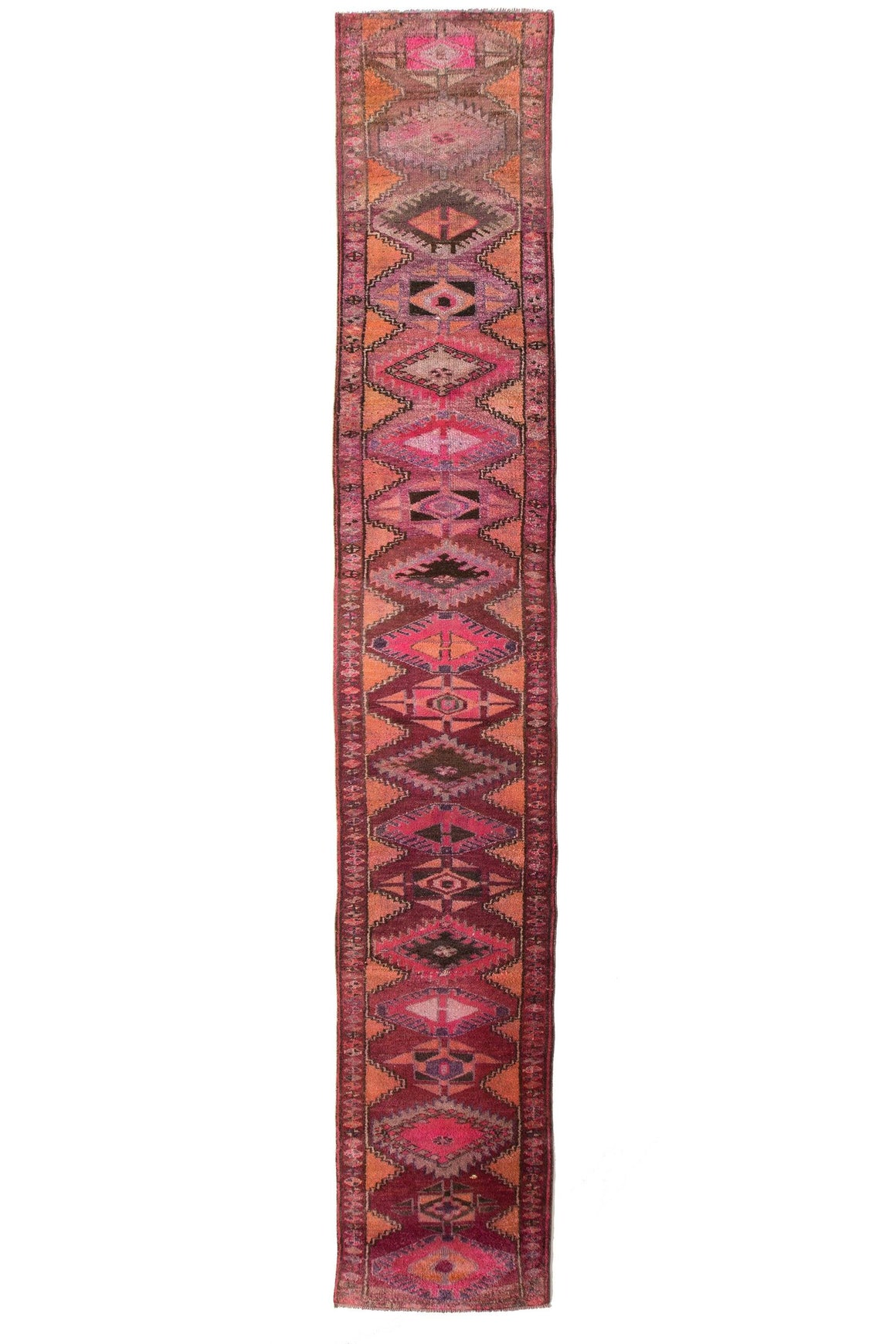 'Mirth' Extra Long & Narrow Tribal Runner - Canary Lane - Curated Textiles