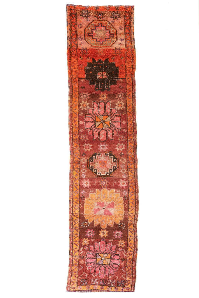 'Garden Bouquet' Vintage Turkish Runner- 2'11'' x 12'4'' - Canary Lane - Curated Textiles