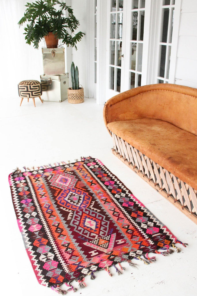 'Oleander' Petite Kilim - Canary Lane - Curated Textiles