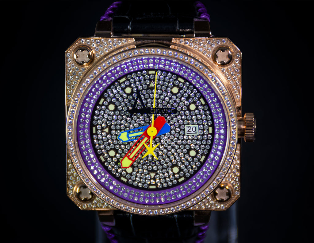 Classic Pave Rose Gold / Purple