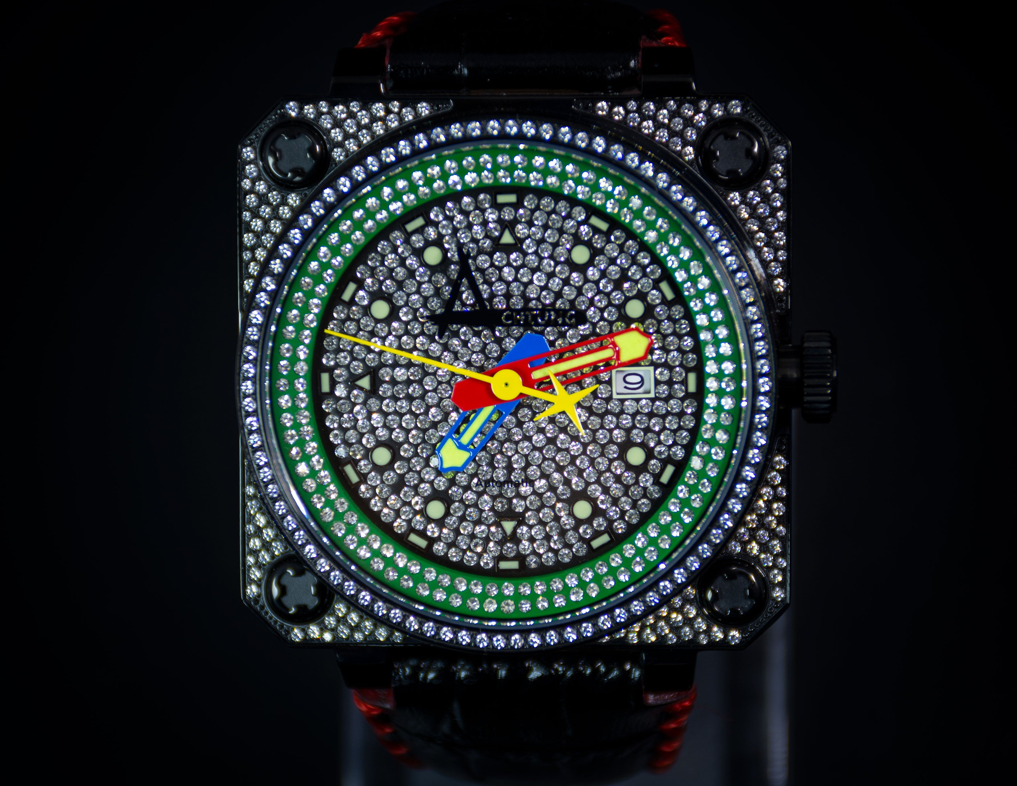 Classic Pave Black / Green