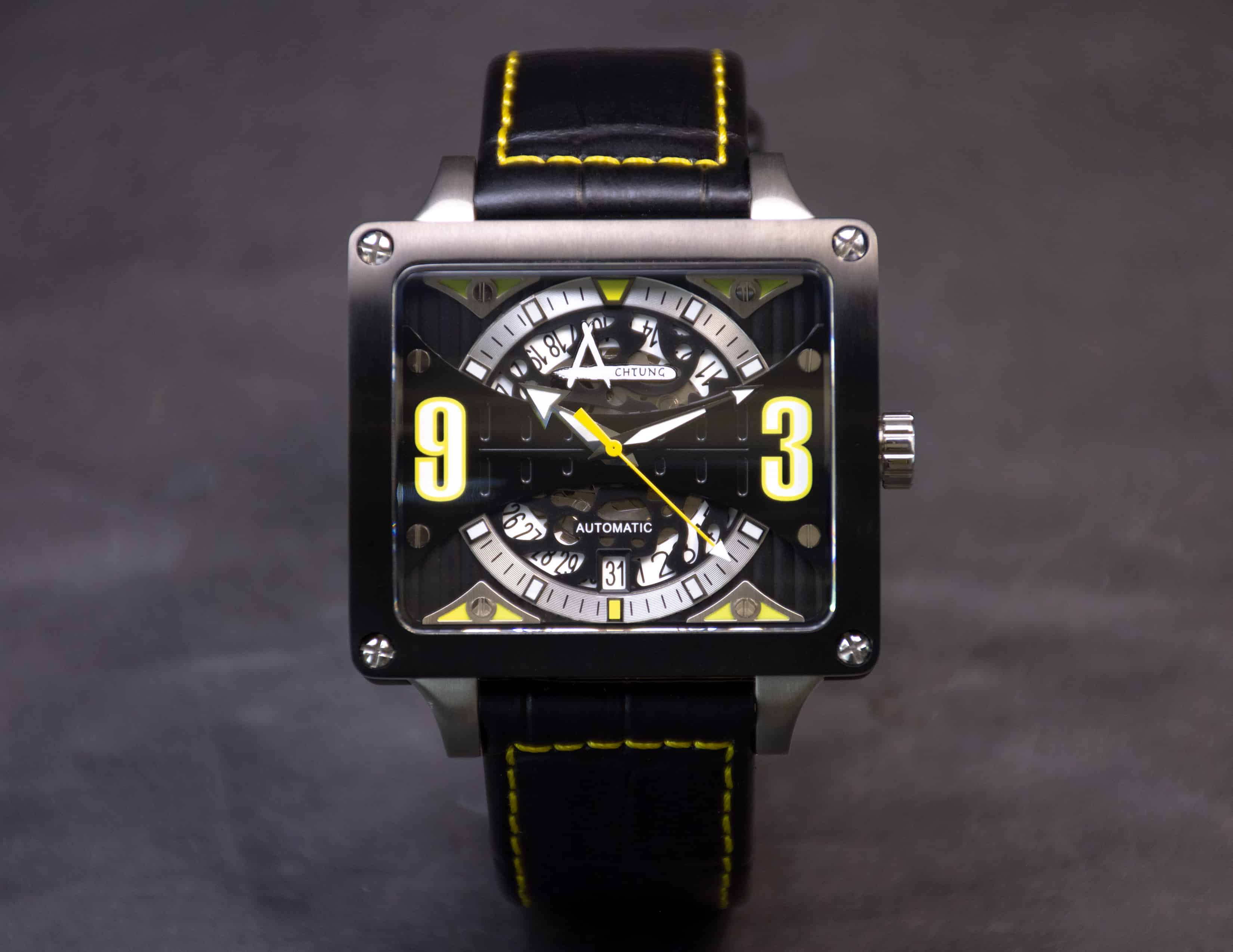 Achtung Timebox Black / Stainless Steel