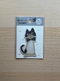 Sticky Tag -Cat with Bow Tie-