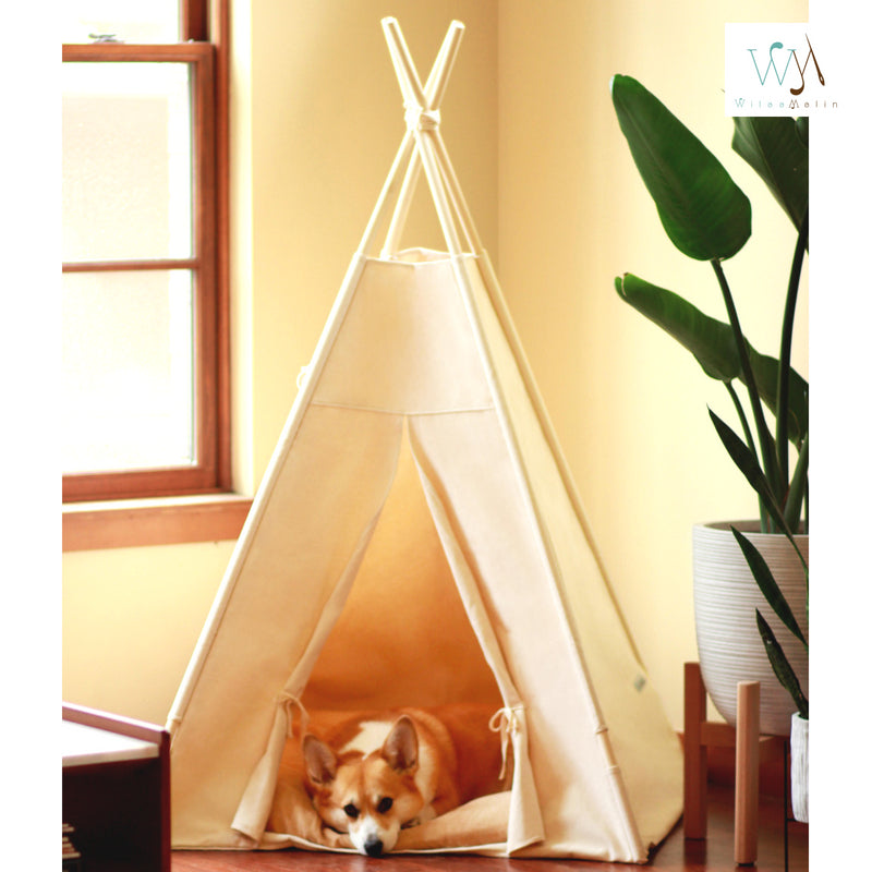 ... Pet Bed Teepee Tent BIX Plain Design ... : dog teepee tent - afamca.org