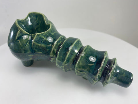 Ceramic Pipe - #ASL30-05 Peacock green.