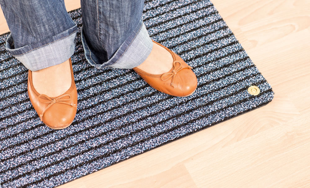 Ha-Ra Doormat - Soft for Indoors - Black/Blue
